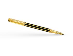 Перьевая ручка Caran d'Ache Varius Chinablack gold plated, золото, родий, по  4490-008
