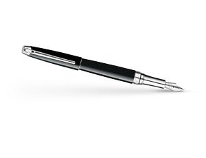 Перьевая ручка Caran d'Ache Leman, золото 18К, родий, серебрение, черный лак  4799-772