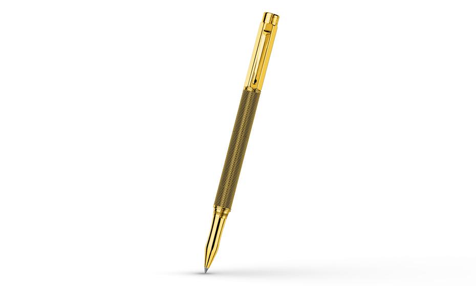 Чернильная ручка Caran d'Ache Varius Ivanhoe Gold Plated, позолота, плетение в в  4470-514