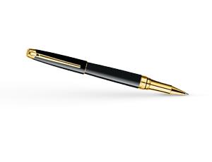 Чернильная ручка Caran d'Ache Leman Ebony Black Gold, позолота, лак  4779-282