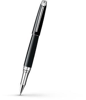 Чернильная ручка Caran d'Ache Leman Ebony Black Rhodium, посеребрение, родий, че  4779-782