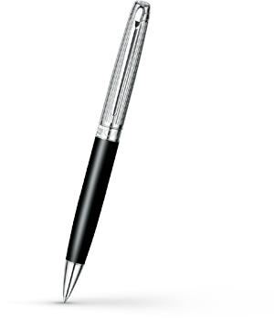 Шариковая ручка Caran d'Ache Leman Bicolor Black Silver Plated, посеребрение, р  4789-289