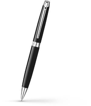 Шариковая ручка Caran d'Ache Leman Ebony Black Rhodium, посеребрение, родий, че  4789-782