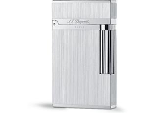 Зажигалка S.T. Dupont LIGNE 2, матовый узор, палладий, посеребрение  16404
