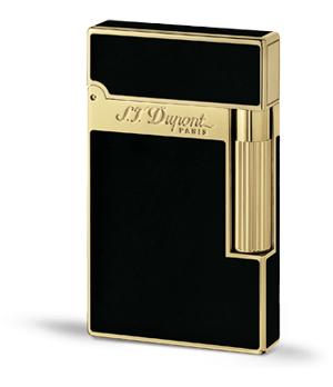 Зажигалка S.T. Dupont LIGNE 2, черный китайский лак, желтое золото  16884