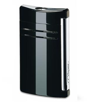 Зажигалка S.T. Dupont Maxijet, черная, блестящая отделка, лак, хром  20104N