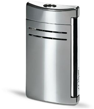 Зажигалка S.T. Dupont Maxijet, серая, блестящая отделка, хром  20107N