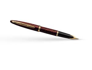 Перьевая ручка Waterman Carene Amber GT, золото 18К, блестящий лак, дизайн  11104