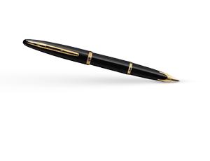 Перьевая ручка Waterman Carene Black Sea GT, золото 18К, блестящий лак, че  11105