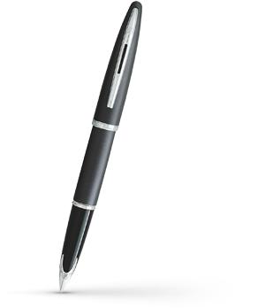 Перьевая ручка Waterman Carene Charcoal Grey ST, золото 18К, лак, палладий  11107