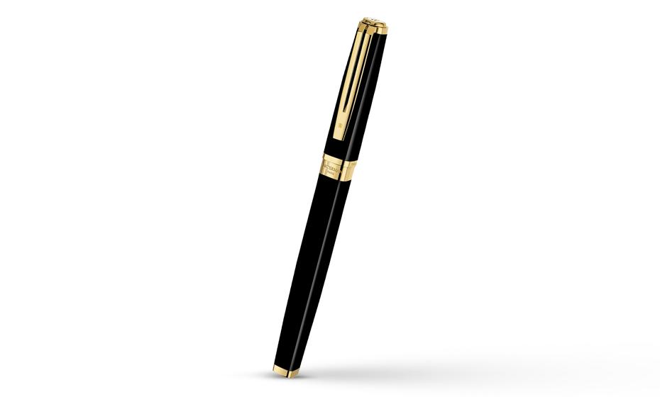 Чернильная ручка Waterman Exception Slim Black Lacquer GT, блестящий лак, по  S0636990 3501170636992