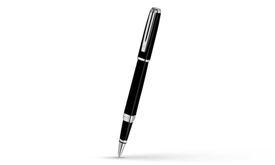Чернильная ручка Waterman Exception Slim Black Lacquer ST, блестящий лак, по  S0637070 3501170637074