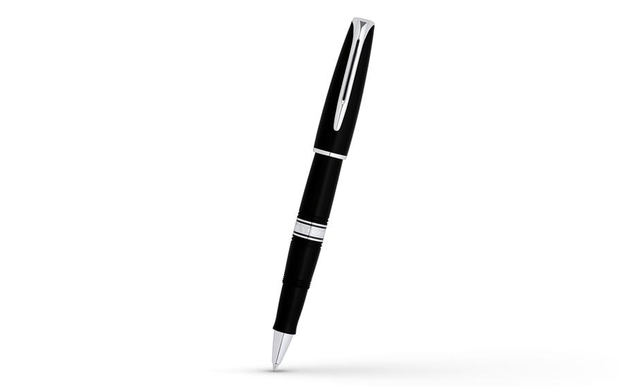 Чернильная ручка Waterman Charleston Ebony Black CT, акриловая смола, паллад  W1301R