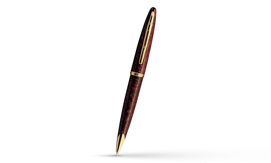 Шариковая ручка Waterman Carene Amber GT, янтарь, блестящий лак, позолота 2  21104