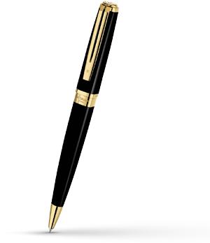 Шариковая ручка Waterman Exception Slim Black Lacquer GT, блестящий лак, по  S0636960