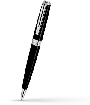 Шариковая ручка Waterman Exception Slim Black Lacquer ST, блестящий лак, по  S0637040