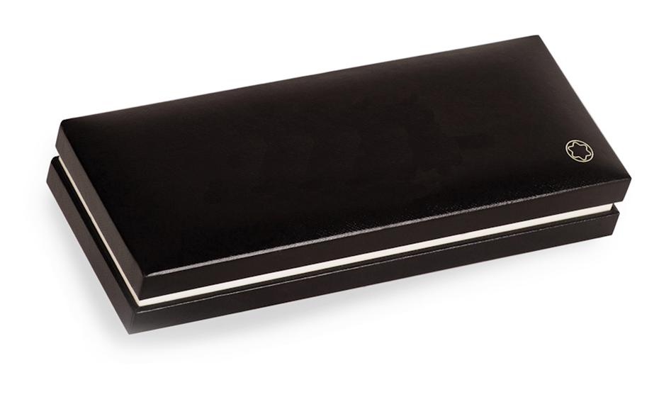 Чернильная ручка Montblanc Meisterstuck Classique, драгоценная черная смола,  12890