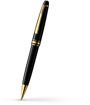 Шариковая ручка Montblanc Meisterstuck classique, черная  10883
