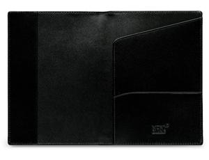 Обложка для паспорта Montblanc Meisterstuck, черная кожа  35285