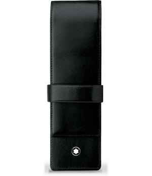 Чехол для ручек Montblanc Meisterstuck, для 2 ручек, кожа, жаккард, 4,5 х 16  14311-1