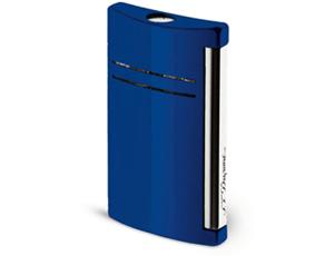 Зажигалка S.T. Dupont Maxijet, синяя, блестящая отделка, лак, хром  20102N