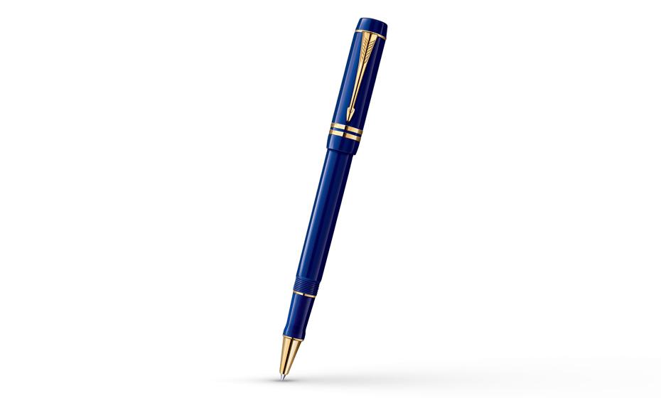 Чернильная ручка Parker Duofold Centennial Lapis Lazuli, толщина линии F,  1907187