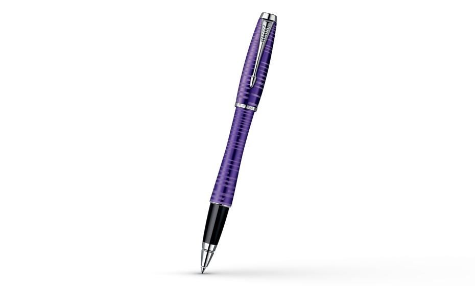 Чернильная ручка Parker IM Premium Amethyst Pearl, толщина линии F, анодир  1906864