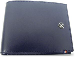 Бумажник S.T. Dupont S.T. Dupont, кожа, синий  180900