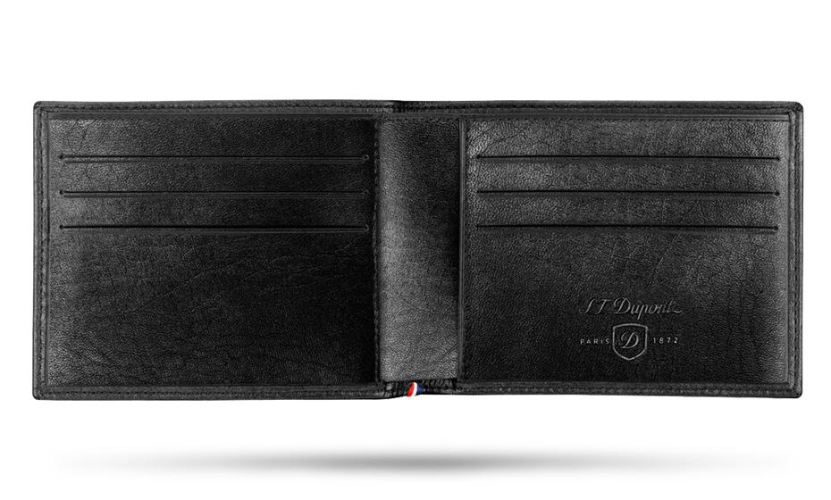 Бумажник S.T. Dupont LINE D SOFT DIAMOND, кожа, черный  180200