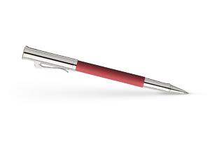 Чернильная ручка Graf von Faber-Castell Guilloche, коралловая, драгоценная смола, платина  146513