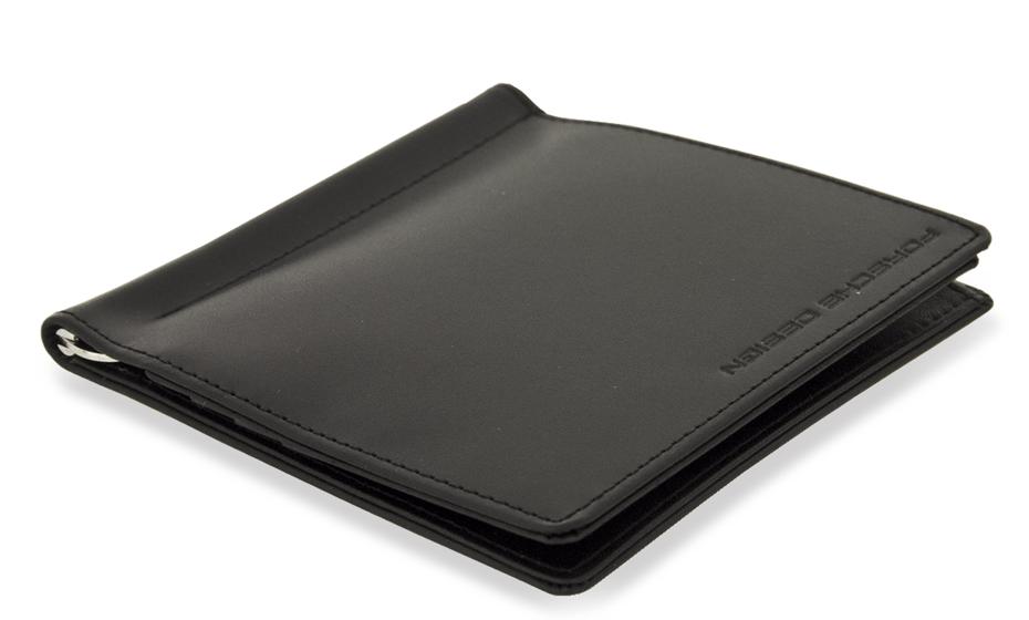 Портмоне Porsche Design Classic Line, с зажимом, кожа, черный  4090000105