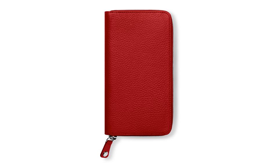 Портмоне Caran d'Ache женское, красное, кожа  6214-770
