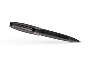 Шариковая ручка Montegrappa Fortuna черная, рутений  FORT-L-BP