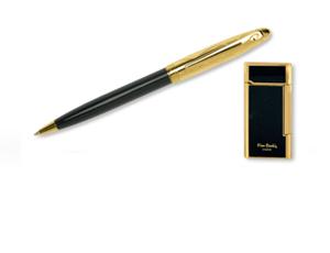 Набор Pierre Cardin Pierre Cardin, шариковая ручка + зажигалка, латунь  SLP191BP-1042