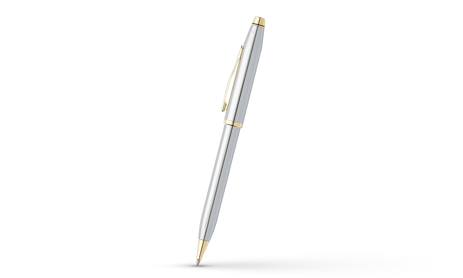 Шариковая ручка Cross Century II Medalist Chrome, хром, позолота  3302WG 3302WG