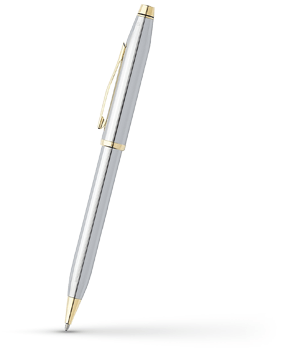 Шариковая ручка Cross Century II Medalist Chrome, хром, позолота  3302WG