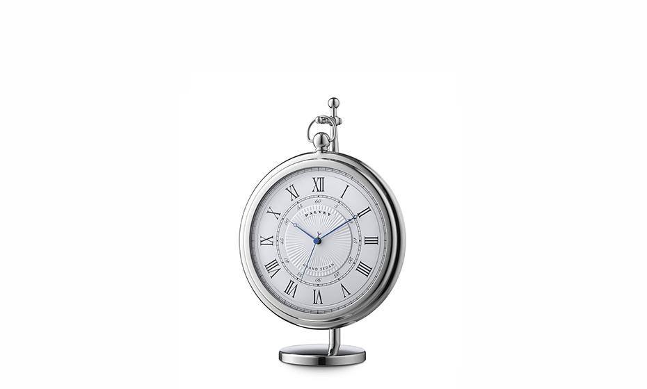 Настольные часы Dalvey NEW Grand Sedan, белый циферблат, нержавеющая стал  3250
