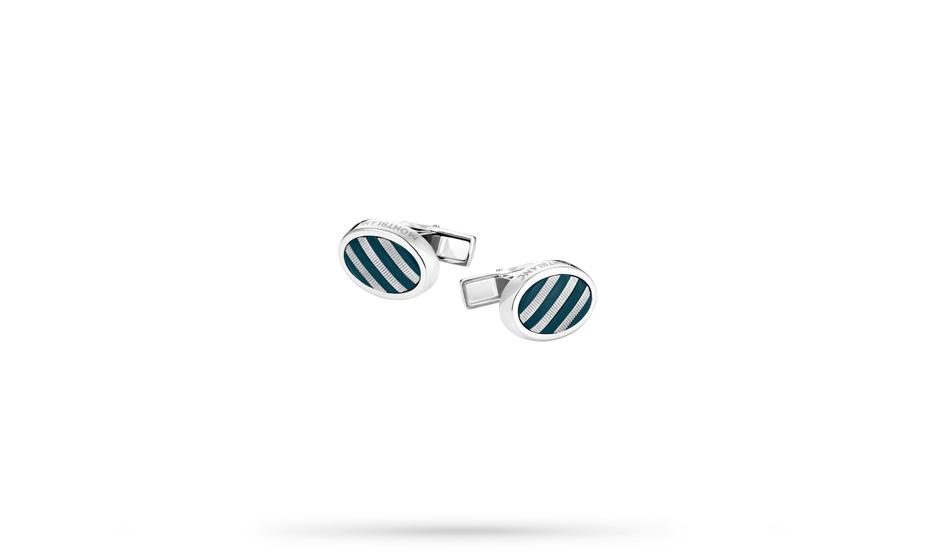 Запонки Montblanc Creative, овальные, сталь, драгоценная смола  111322