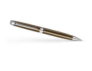 Шариковая ручка Caran d'Ache Leman Caviar, рисунок под чешую рыбы, никель-палла  4789-497