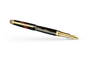 Перьевая ручка Caran d'Ache Victory pen, золото 18K, драгоценная смола, чёрно-  VIC/GOLD-FP