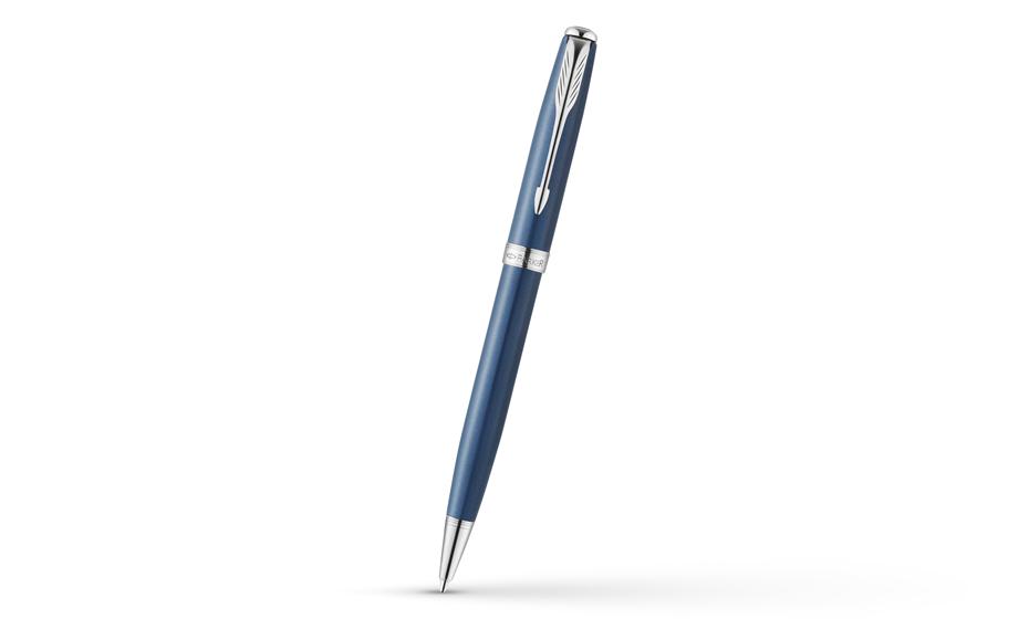 Шариковая ручка Parker Sonnet Secret Shell Blue Roller, синий лак, рутени  1930503