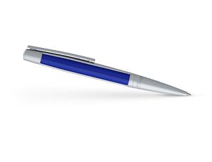 Шариковая ручка S.T. Dupont Defi, сталь, драгоценная смола, хром  405718