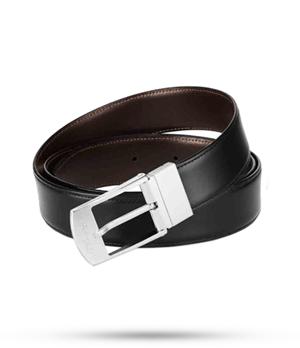 Ремень S.T. Dupont S.T. Dupont, черный/коричневый, кожа, палладий  9040120