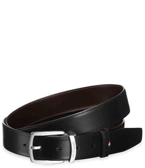 Ремень S.T. Dupont S.T. Dupont, кожа, черный  8210120