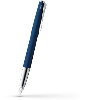 Перьевая ручка Lamy Studio, сталь, матовый лак, хром, синяя  4000463