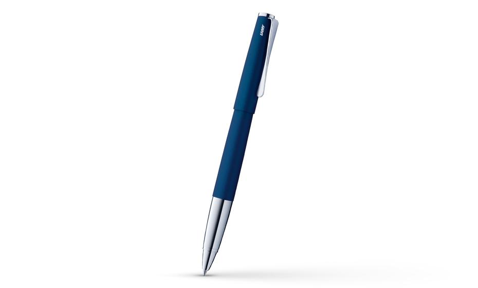 Чернильная ручка Lamy Studio, сталь, матовый лак, синяя  4001215