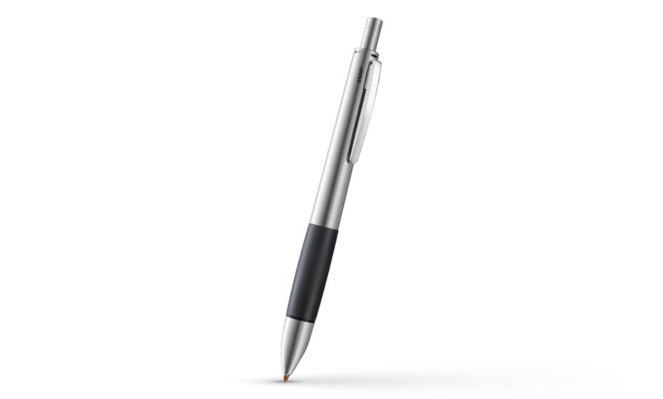 Мультисистемная ручка Lamy Accent, 3 цвета+карандаш, сталь  4026692