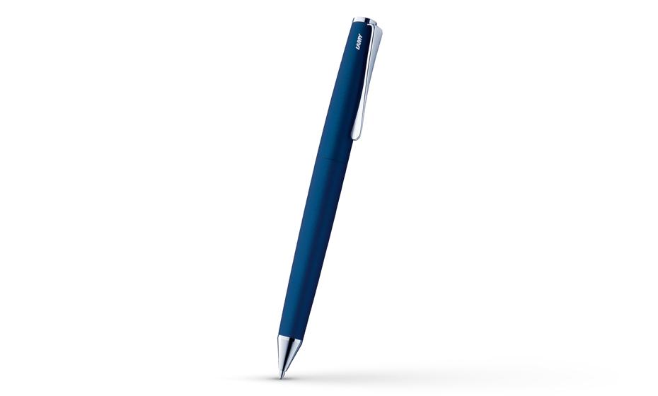 Шариковая ручка Lamy Studio, матовая сталь, синяя  4000963