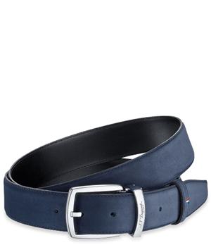Ремень S.T. Dupont S.T Dupont, замша, синий, палладий  8210156