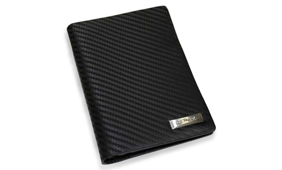 Обложка для паспорта S.T. Dupont S.T. Dupont Defi Carbon, кожа, черная  170138RU